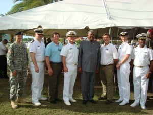 Some of TEAM COMFORT's partners with the Prime Minister of Antigua & Barbuda, the Hon. Spencer Baldwin.