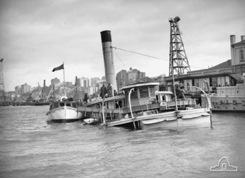 Barracks ship sunk in Sydney Harbor from Japanese submarine
