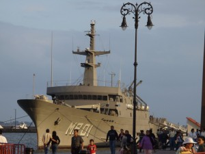 The Mexican Hospital Ship Huasteco is scheduled to arrive off the coast of Port-au-Prince today.