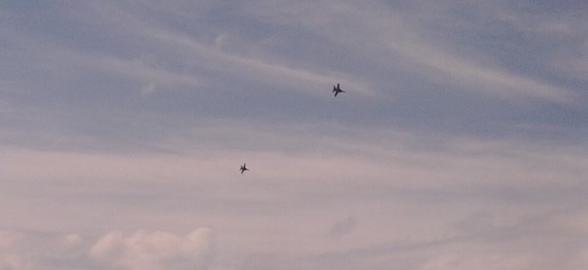 F/A-18s Flying