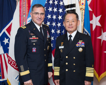 General Curtis Scaparrotti (left), head of USFK, and ROK CJCS Admiral Choi Yun-hee (right)