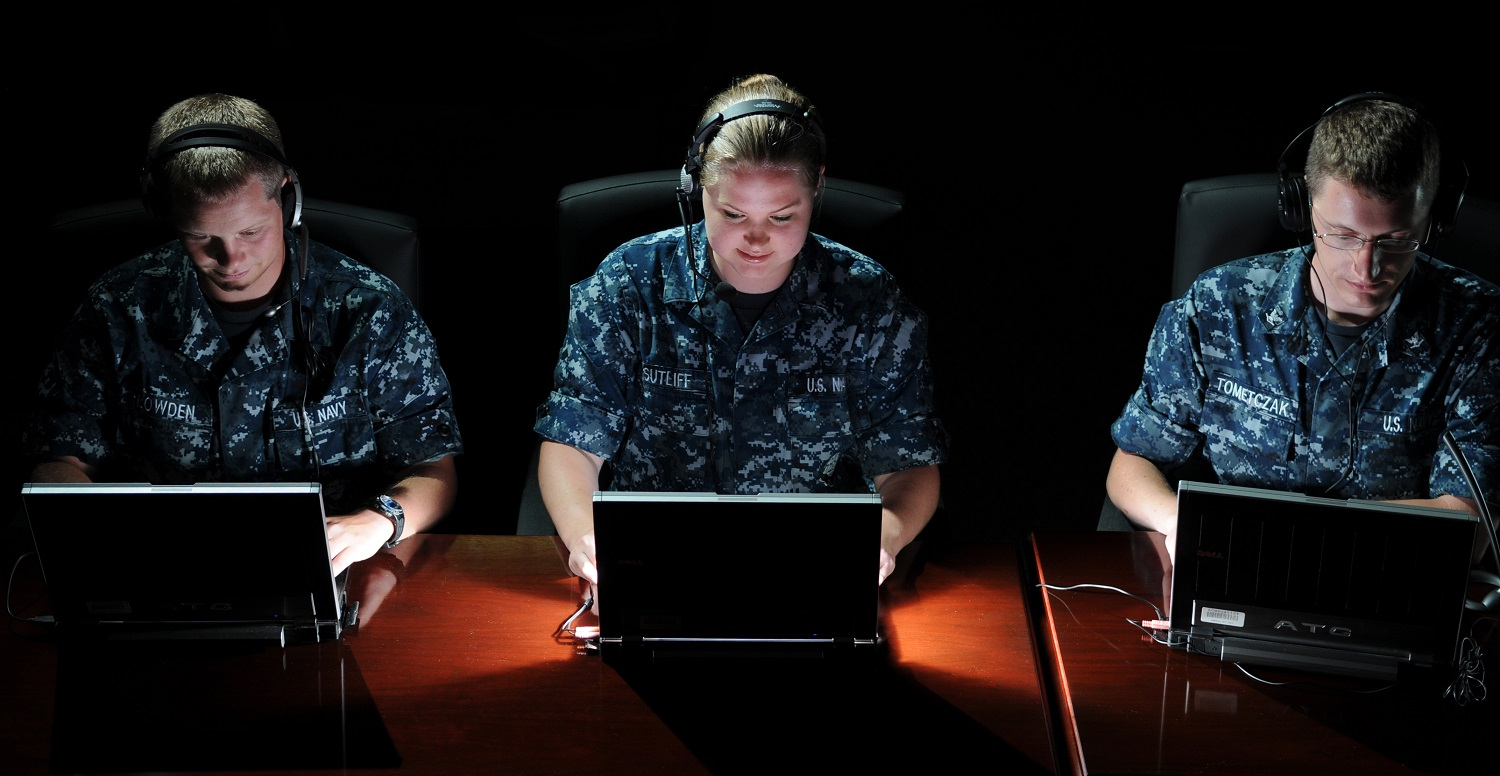 110524-N-GS507-210 PENSACOLA, Fla. (May 24, 2011) Students from the Center for Information Dominance (CID) Corry Station, Cryptologic Technician Collection Seaman Recruit Ben Lowden, of Brownsberg, Ind., Cryptologic Technician Networks Seaman Apprentice Alicia Sutliff, of Jacksonville, Fla., and Cryptologic Technician Technical Third Class Steven Tometczak, of Reno, Nev., preview the Integrated System for Language Education and Training program (ISLET), which is being tested by the CID-based Center for Language, Regional Expertise and Culture (CLREC) and the Academic Consortium for Global Education (ACGE). Conceived as an alternative to traditional computer-based training and classroom instruction, ISLET employs online social networking, interactive role-play, competitive gaming and speech recognition to create an immersive environment for collaborative learning. (U.S. Navy photo by Gary Nichols/Released)