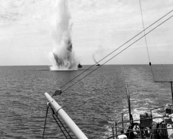 Minesweeping in the South Pacific in 1944. Naval Institute photo archive